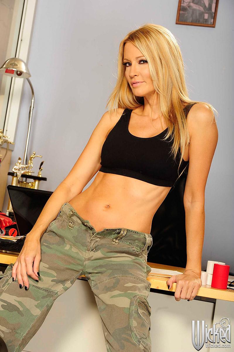 Jessica Drake Sports Bra And Camouflage