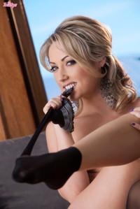 Sarah Peachez Stockings Striptease