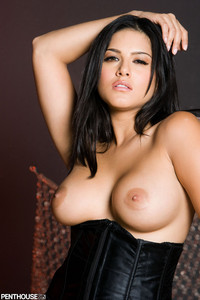 Sunny Leone Black Corset and Skirt