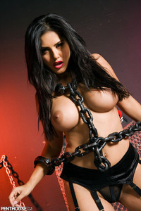 Sunny Leone Corset and Chains