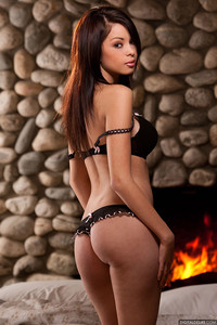 Lindsey Lee Fireside Striptease