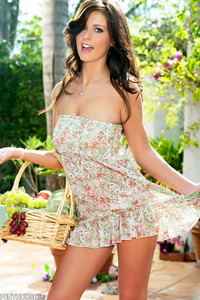 Whitney Westgate Strips Outside on a Picnic